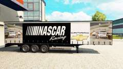 Skin NASCAR on a curtain semi-trailer