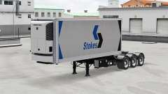 Refrigerated semi-trailer with a saddle