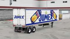 Jumex skin on the reefer trailer for American Truck Simulator