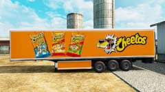 Skin Cheetos on refrigerated semi-trailer