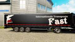 Skin Fast Internationale Transport on semi-trail
