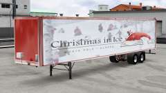 A collection of skins Christmas v2.0 on the semi-trailer for American Truck Simulator