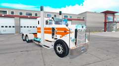 Skin Orange stripes on the truck Peterbilt 351