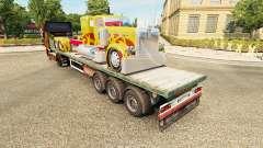 Semi-trailer-platform truck Peterbilt