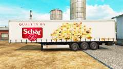 Skin Schar on a curtain semi-trailer