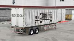Skin M. S. Carriers on a curtain semi-trailer