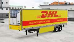 Skin DHL for reefer semi-trailer for American Truck Simulator