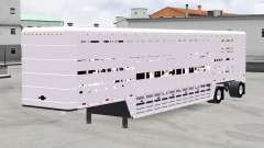 Semitrailer-cattle carrier