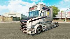 The Vabis V8 Metallic skin for truck Scania T