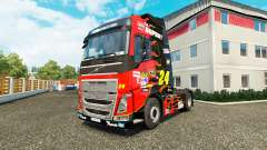 Skin NASCAR for truck tractor Volvo for Euro Truck Simulator 2