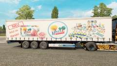 Skin MinusL on a curtain semi-trailer