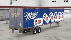 All-metal semitrailer Miller Lite for American Truck Simulator