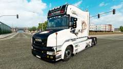 Gagarin skin for truck Scania T for Euro Truck Simulator 2