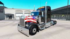 Skin Harley-Davidson on the truck Kenworth W900