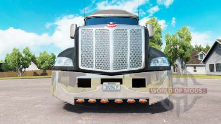 Chrome bumper for a Peterbilt 579 tractor for American Truck Simulator