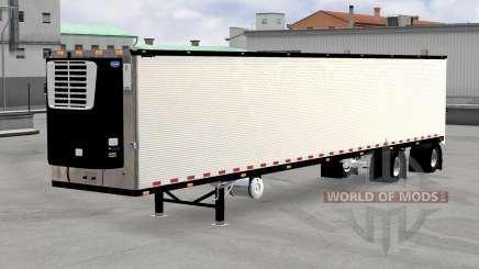 Chromed reefer trailer v1.4 for American Truck Simulator