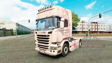 Skin Pink Panter on tractor Scania for Euro Truck Simulator 2