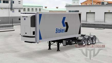 Refrigerated semi-trailer with a saddle for American Truck Simulator