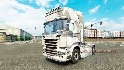 The skin Army on the tractor Scania for Euro Truck Simulator 2