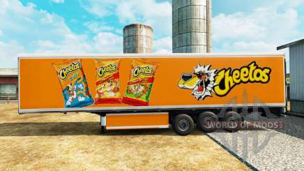 Skin Cheetos on refrigerated semi-trailer for Euro Truck Simulator 2