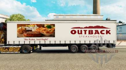Skin Outback Steakhouse on a curtain semi-trailer for Euro Truck Simulator 2