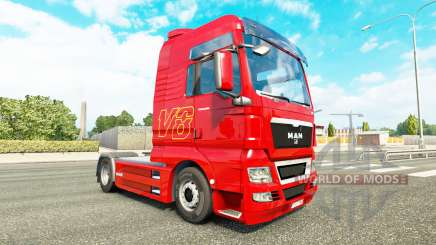 Skin V8 truck MAN for Euro Truck Simulator 2