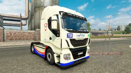 Skin FINA on the truck Iveco Hi-Way for Euro Truck Simulator 2