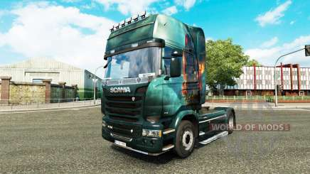 Skin Fantasy Ship on the tractor Scania for Euro Truck Simulator 2