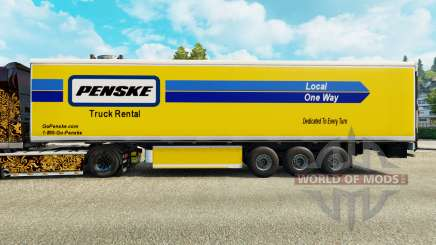 Penske skin for the refrigerated trailer for Euro Truck Simulator 2