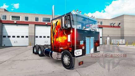 Dragon Fire skin for the truck Peterbilt 352 for American Truck Simulator