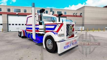 America skin for the truck Peterbilt 389 for American Truck Simulator