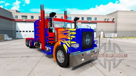 Optimas Prime skin for the truck Peterbilt 389 for American Truck Simulator