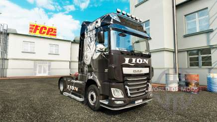 Lion skin for DAF truck for Euro Truck Simulator 2