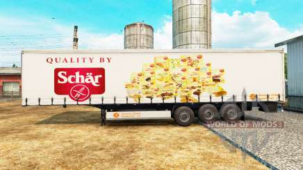 Skin Schar on a curtain semi-trailer for Euro Truck Simulator 2