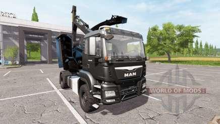 MAN TGS 18.480 wood crusher for Farming Simulator 2017