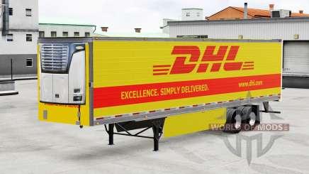 Skin DHL for reefer semi-trailer for American Truck Simulator