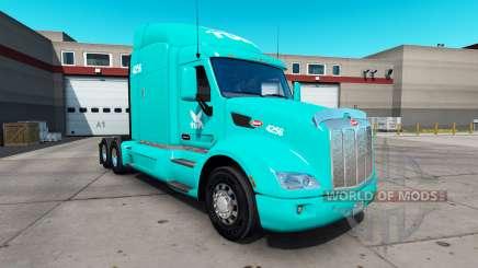 Skin TUM on the tractor Peterbilt 579 for American Truck Simulator