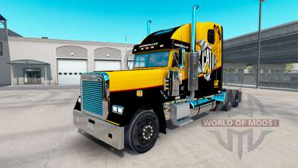 Скин Caterpillar на Freightliner Classic XL for American Truck Simulator