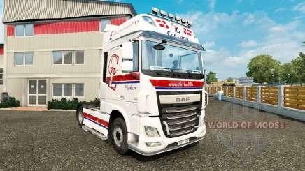 Skin Chr.Lund on tractor DAF for Euro Truck Simulator 2