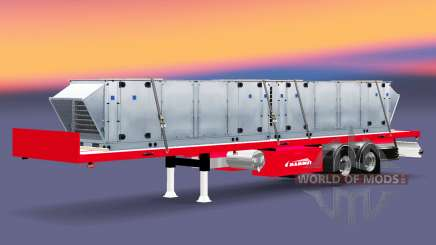 The semitrailer-platform Mammut with different loads. for Euro Truck Simulator 2