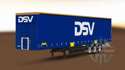 Curtain semi-trailer Schmitz Cargobull DSV for Euro Truck Simulator 2