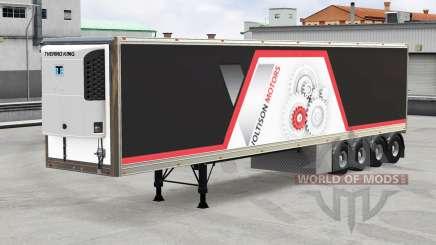 Refrigerated semi-trailer v2.0 for American Truck Simulator