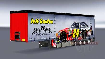 Curtain semitrailer Krone NASCAR for Euro Truck Simulator 2