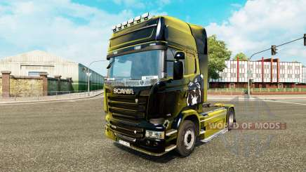 Boston Bruins skin for Scania truck for Euro Truck Simulator 2
