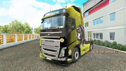Boston Bruins skin for Volvo truck for Euro Truck Simulator 2