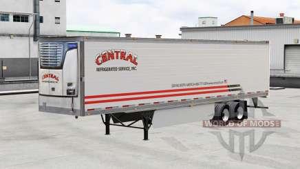 Skin Central v1.5 on refrigerated semi-trailer for American Truck Simulator