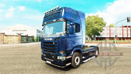Skin Kosmos on the tractor Scania for Euro Truck Simulator 2