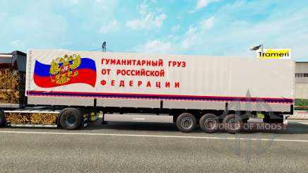 A semitrailer carrying humanitarian cargo for Euro Truck Simulator 2
