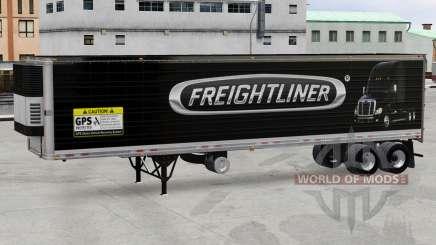 Skin Freightliner reefer semi-trailer for American Truck Simulator