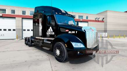 Adidas skin for the truck Peterbilt 579 for American Truck Simulator